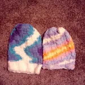 Other - 2 Handmade NEW Knitted Hats $13